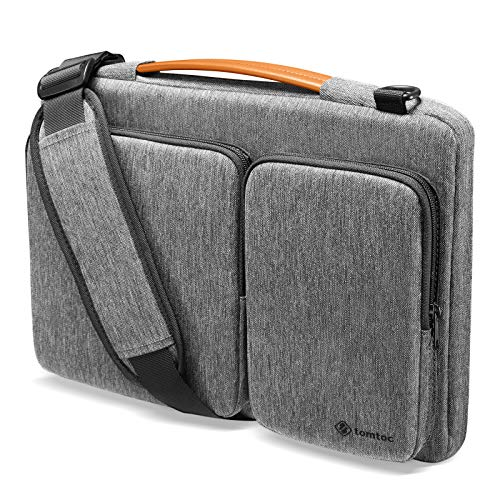 tomtoc Laptop Shoulder Bag for 13.5 Inch New Microsoft Surface Laptop 4/3/2/1, Surface Book 3/2/1, 360 Protective Case Fit 13-inch Old MacBook Air/ Pro, Acer Swift 3, Waterproof Accessory Sleeve