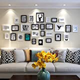 Unbekannt Bilderrahmen-Set Fotowand hölzerne Fotorahmenwand einfache...