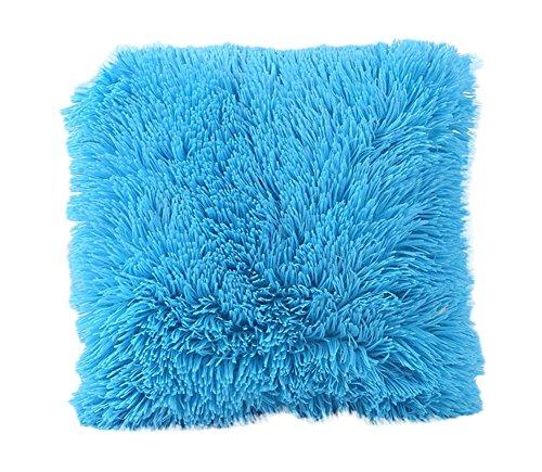 Haodou Taie d'oreiller simple De Bureau De Voiture De Couleur Unie Taie D'oreiller Simple Sans Oreiller 43 * 43cm (Blue)