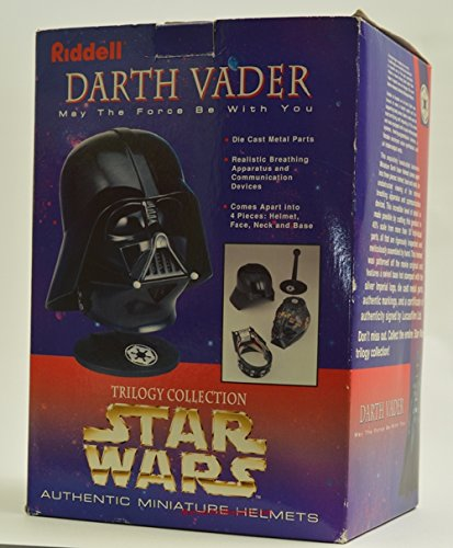 Star Wars Riddell Darth Vader Helmet Authentic Replica (.45 scale beautiful die-cast metal, swivel display stand)