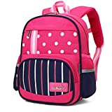 WindTook Toddler Backpack Kindergarten School Bookbags Boys Girls Cute Preschool Backpack for Little Kids Years with Chest Strap(Rose Red)
