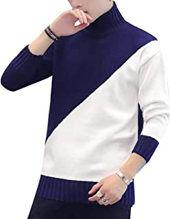 Winwinus Men Knit Mock Neck Long-Sleeve Fit Assorted Colors Sweater