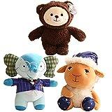 Rainbow Ruby Teddy Bear Plush Toys Stuffed Soft Plushie Cartoon Animal Elephant Bear Dolls for Children Birthday Gifts 25~38cm