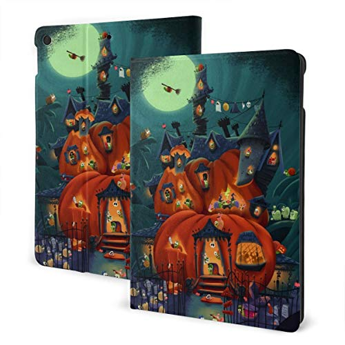Best Witch Brooms Halloween Snail Parties Design Pu Leather Ipad Pro Air 3 10.5/Ipad 7th Generation 10.2 Inch Case Cover Holder for Kids Girls Boy Women Men Accessories