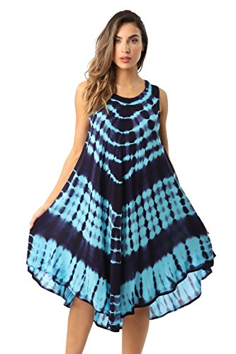 Riviera Sun 21802-TRQ-1X Dress Dresses for Women Turquoise/Navy