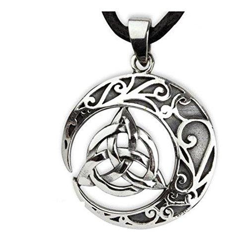 etNox magic and mystic Keltischer Knoten Unisex Halskette silberfarben