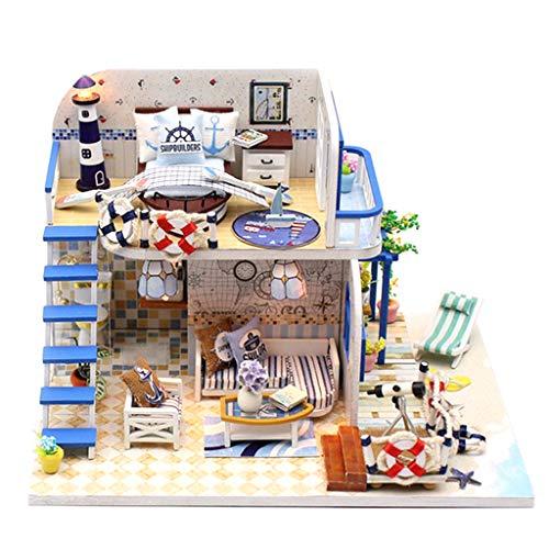 Fenteer DIY Puppenhaus Projekt Kit Miniatur Puppenstube mit Möbel Bausatz Spielzeug - # 8