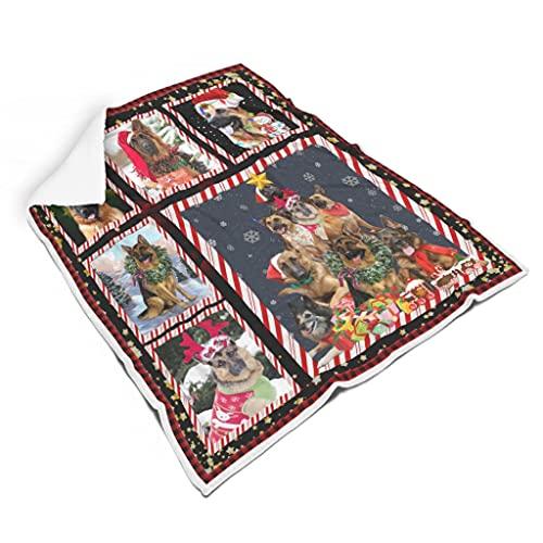 TDSEBM Manta de franela suave para cachorro, de Feliz Navidad, para niños, 14, 152,4 x 203,2 cm
