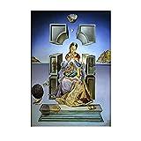 HWNU Cuadro de Lienzo Salvador Dalí la Virgen de Port Lligat Pintura Famosa Lienzo póster impresión Arte de Pared Sala de Estar decoración de Oficina en casa Sin Marco
