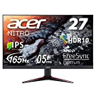 Acer ゲーミングディスプレイ VG270Sbmiipfx 27型ワイド IPS 非光沢 フルHD 0.5ms (GTG, Min.) 165Hz HDMI AMD FreeSync™ Premium対応 HDR 10