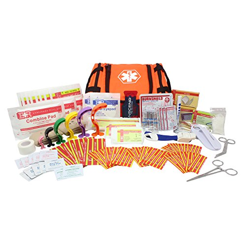 Ever Ready First Aid EMS First Responder Fully Stocked Trauma First Aid Kit (Orange)
