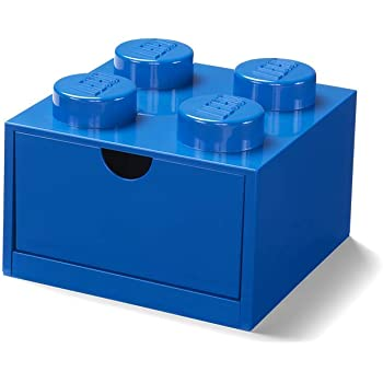 LEGO Caja de Almacenamiento en azul de 4 espigas para escritorio (#40201731): Amazon.es: Hogar