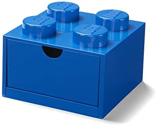 LEGO Desk Drawer Stackable Storage with 4 Knobs, in Blue