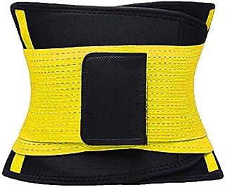 Cocosmart Sweat Tummy Control Shaper Waist Trainer Shaper Slimming Belt Yellow L…