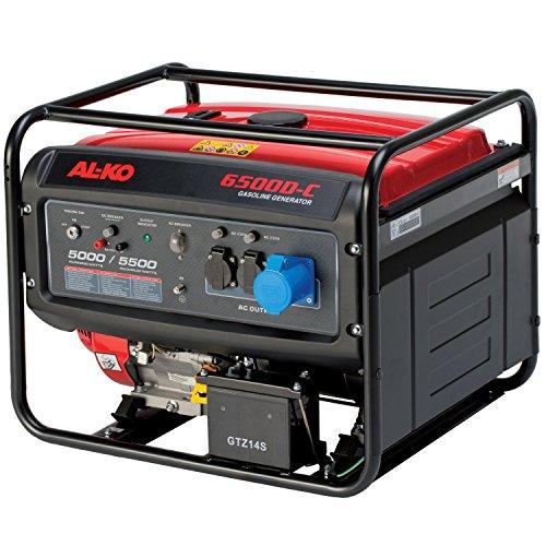 AL-KO Stromerzeuger 6500-C, 5.0 kW Motorleistung, 389 ccm Hubraum, 4-Takt Motor, 2x 230 V Steckdose, 1x 12 V, großer Tank für lange Laufzeiten