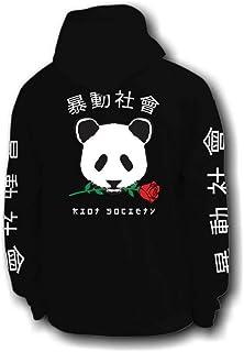 Riot Society Panda Rose Mens Hoodie - L