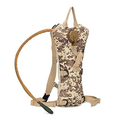 Senmir 3L Camuflaje hidratación agua mochila vejiga deporte Militar al Aire Libre agua bolsas grandes para caza escalada Running y Senderismo