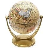 BTSEURY Mini globo decorativo de mundo, edición inglesa de edición inglesa de escritorio giratorio para geografía, aula, oficina en casa, (13 x 10 x 13 cm)