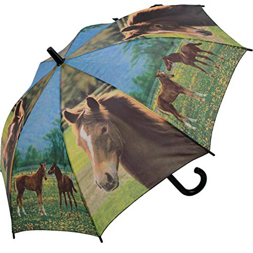 Unbekannt Kinder- Regenschirm Pferde
