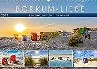 BORKUM-LIEBE (Wandkalender 2022 DIN A2 quer): Landschaftlich bezaubernde Inselwelt (Monatskalender, 14 Seiten )