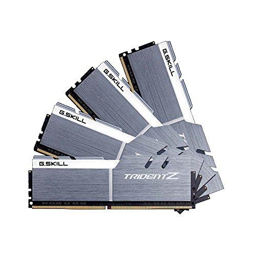 64GB G.Skill DDR4 Trident Z 3200 Mhz PC4-25600 CL15 bianco/grigio 1.35 v Quad Channel Kit (4x16GB)