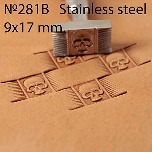 Stempel Tool Leer Crafting Crafts RVS Stempelen Mand Weave Schedel #281B ST