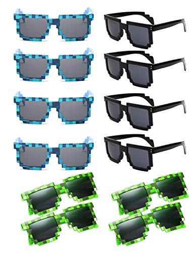 Sonnenbrille für Party Pixel Sonnenbrille Neuheit Retro Gamer Geek Brille Kostüm Sonnenbrille für Kinder Erwachsene Party Favors