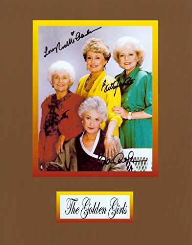 WonderClub The Golden Girls, 8 X 10 Photo Autograph on Glossy Photo Paper