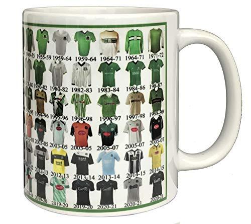 Plymouth Argyle Mug Plymouth Shirt History Mug Ceramic Mug Football Mug Shirts Through The Ages