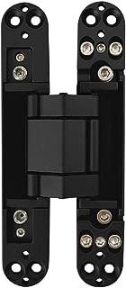 Alamic Invisible Door Hinge Concealed Hinge Heavy Duty Hidden Hinge 3-D Adjustable - Black -1 Hinge