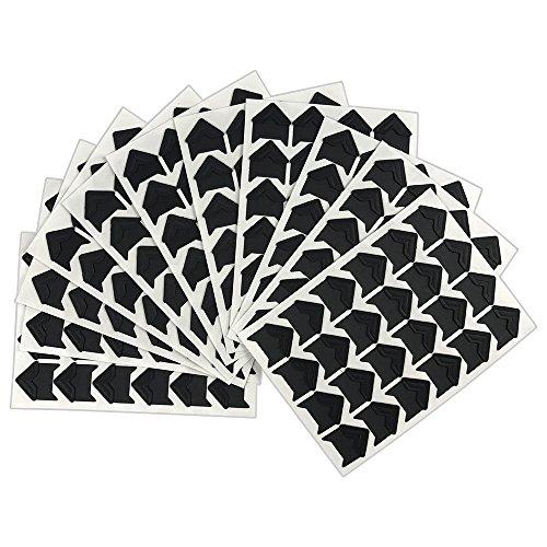 264 PCS Vintage Black Self-Adhesive Acid Free Paper Photo Mounting Stickers Corners for Scrapbooking Album Dairy