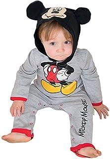 amscan amscan DCMIC-RJ03 Mickey Mouse Strampler mit Kapuze, 3-6 Monate, 1 Stück, Farbe Uni