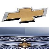 Cardiytools for 2011-2014 Cruze Grille Badge Bumper Logo Front Bumper Chevy logo Emblem - Gold
