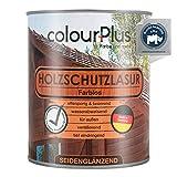 colourPlus® Holzschutzlasur (750ml, farblos) seidenglänzende Holzlasur Außen- Holz Grundierung - Holz Lasur - Holzlasur Aussen - Made in Germany