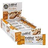 Extend Bar Gluten Free High Fiber Low Net Carb Energy Bars 1.41 Ounce Bars, Peanut Butter, 15 Count