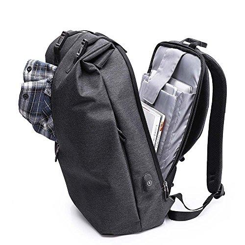 Neuleben Rucksack Wasserdicht Diebstahlschutz USB-Ladeanschluss 15.6 Zoll Laptop Rucksack Damen Herren Arbeitsrucksack Schulrucksack Rucksäcke Daypack (Blau)