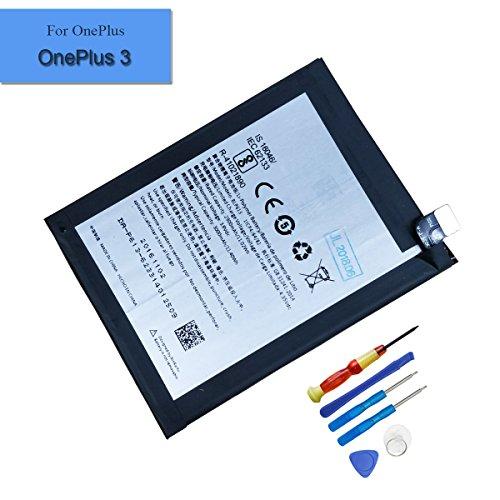 Batería de repuesto para OnePlus 3 A3000 (3000 mAh, 3,8 V, BLP613, incluye herramientas)