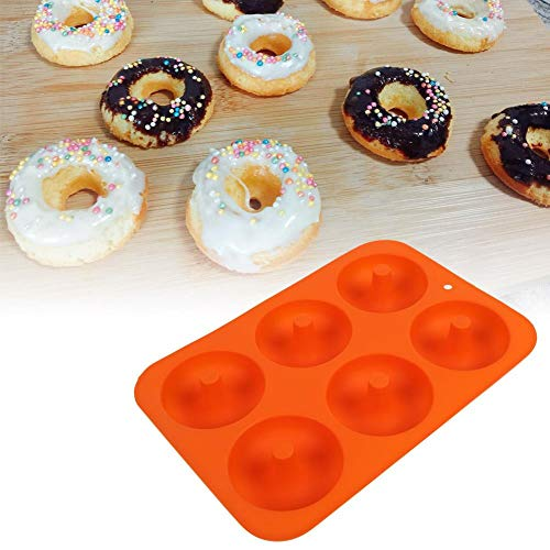 Cake Mold, 6-Cavity Silicone Donut Bakplaat Donut Chocolade Vorm Magnetron Vriezer