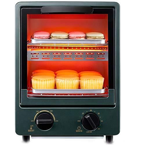 Vertikal Kleiner Mini Elektro Ofen 12L, Steuerbare Temperatur 100-230 ° Zeitpunkt 60 Minuten Zwei-Schicht Backen,...