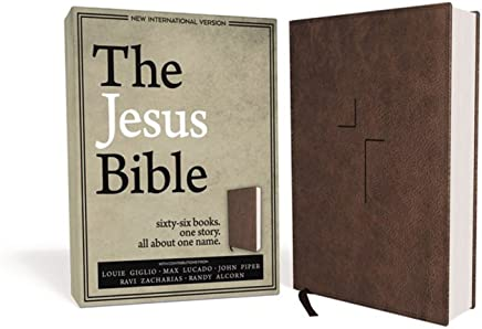 The Jesus Bible: New International Version, Brown, Leathersoft: Sixty-Six Books. One Story. All About One Name.