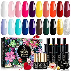 commercial MEFA 23 Piece Nail Gel Polish, Nice Box, Glossy Matte Gel Collection … nail polish sets