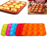 Silicone Nonstick 12 Cups Muffin Pan Cupcake Tray Cake Baking Mold
