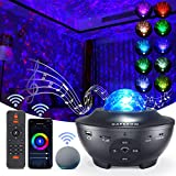 Star Projector, Galaxy Star Night Light Projector Working with Smart App & Alexa, 10 Color Music Starry Light Projector with Remote & Bluetooth, Ocean Wave Sky Light Projector for Bedroom Kids Adults