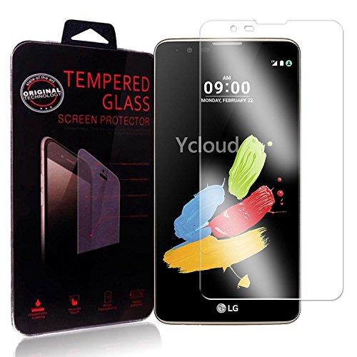 Ycloud Panzerglas Folie Schutzfolie Bildschirmschutzfolie für LG Stylus 2 screen protector mit Festigkeitgrad 9H, 0,26mm Ultra-Dünn, Abger&ete Kanten