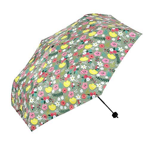 Good feeling zm Automatische Falten Tragbare Geschäftsreisen Regenschirm, Winddicht Und Gewitter, Grüner Sonnenschirm Vinyl Sonnenschutz