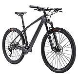 SAVADECK mountain bike carbonio,DECK5.0 mtb 27.5 29 carbonio Telaio in Fibra di Carbonio Hardtail Mountain Bike Ultralight XC MTB con Shimano M5100 22 velocità Pneumatici Continental (Grigio, 29x15)