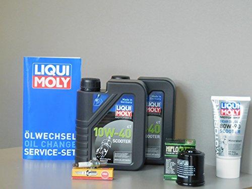 Kit de mantenimiento para Piaggio X9 250, filtro de aceite, bujía, servicio de inspección y scooter