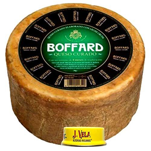 Queso Curado Boffard Artesano - Queso Boffard elaborado con leche cruda de Oveja y Vaca Peso Aproximado 3 Kilos - llévate GRATIS unas ricas Alegrías Riojanas J Vela