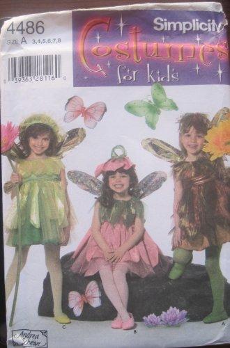 Simplicity Schnittmuster 4486Kinder Fairy Kostüme Größe 35–42& 8