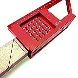 Outil de mesure auxiliaire 0-200mm 0,1 mm précision en alliage d'aluminium travail du bois règle de traçage haute précision menuiserie Gague résistant à l'usure pour la menuiserie